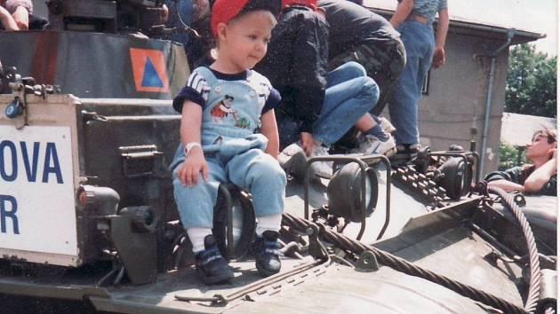 Vyprošťovací tank VT55A, který vlastní město Šumperk.