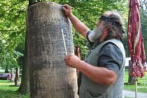 Tomáš Cidlík při práci
