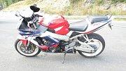 Havárie motocyklu u Loučné
