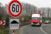Omezení rychlosti na Bludovském kopci