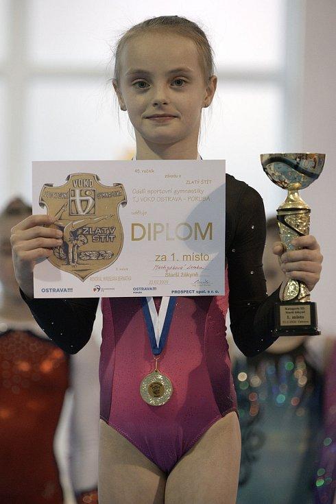 Gymnastky GK Šumperk zahájily sezonu kláním O zlatý štít VOKD Poruba.