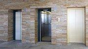 Budova IPOS v Jeseníku zvaná též Pentagon - interiér.