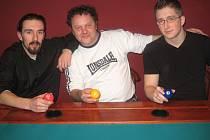 Tomáš Gronych, Josef  Komenda a Marek Švesták (zleva).