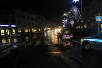 Nehoda na náměstí Osvobození v Zábřehu.