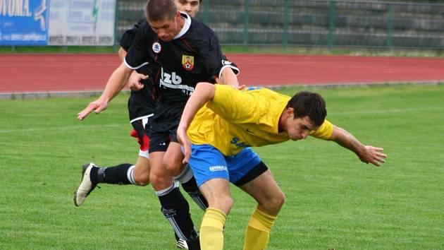 Šumperk versus Hranice (černé dresy).