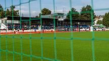 Fotbalové hřiště na stadionu v Zábřehu má nový povrch.