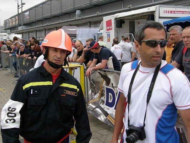 Snímky z evropského šampionátu TFA, vlevo Jaromír Barcuch , vpravo Vladimír Vysocký