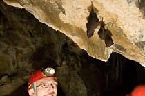 Ochránci na březnové kontrole netopýrů v jeskyních na Špičáku