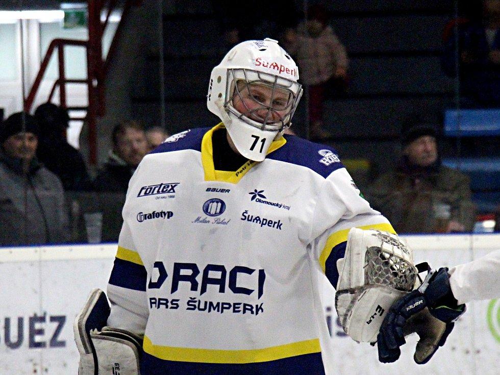 Brankář Dalibor Venouš během středečního utkání s Opavou