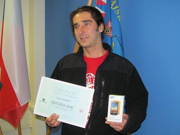 Tomáš Rašner z Nového Malína byl oceněn titulem Gentleman silnic.