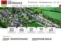 Webové stránky obce Vikýřovice.