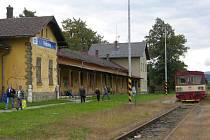 Nádraží ve Vidnavě před zrušením provozu osobních vlaků