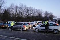 Policisté v Šumperku zkotrolovali stovky řidičů.
