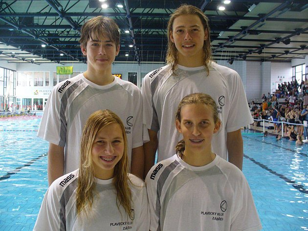 Nahoře zleva  Roman Křupka, Petr Horvát, dole zleva  Hana Horvátová, Veronika Špůrková