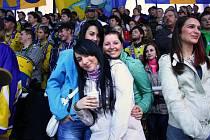 Fanoušci na šumperském zimním stadionu - ilustrační foto.