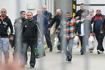 Čtvrteční propouštění vězňů z kuřimské věznice.