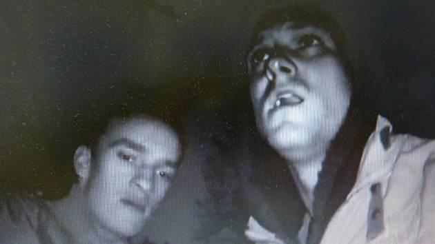 Snímek z natáčení hororového videa o Sanatorce