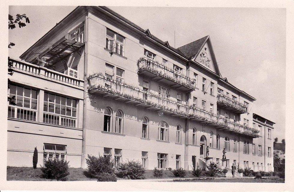 Historické snímky šumperské Sanatorky