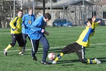 Přípravný zápas Šumperku s Mohelnicí.