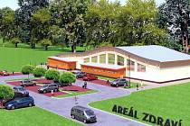 Studie víceúčelové haly v budoucím Areálu zdraví ve Velkých Losinách