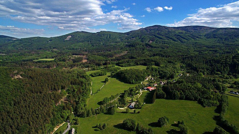 Hřeben Rychlebských hor v okolí Černé Vody 22. 5. 2020