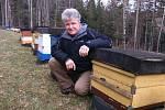Pavel Cimala na jednom ze stanovišť svých včelstev