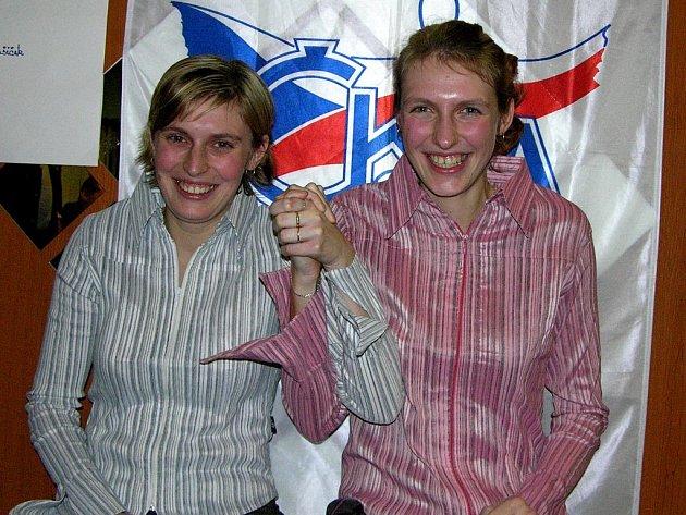 Hana Wiedermannová (vpravo)