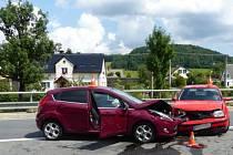 Nehoda v Bělé pod Pradědem.