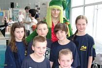 Šumperští plavci s Emanem.