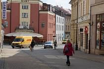 Momentky z pěší zóny v Šumperku ve čtvrtek 19. března odpoledne.