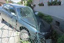 Opilý řidič havaroval v sobotu 30. května ráno v šumperské Temenici.