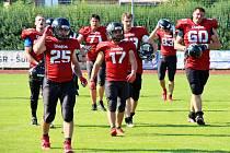 Šumperk Dietos (červené dresy) v sobotním utkání proti Třinci