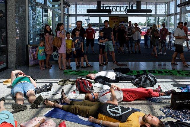 Protest proti rychlé módě hnutí Rebelie proti vyhynutí vBrně.