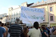 Demonstrace proti Babišovi v Šumperku - 11. 6. 2019