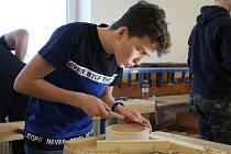 Soutěž Mladý truhlář pro žáky druhého stupně základních škol v Rapotíně