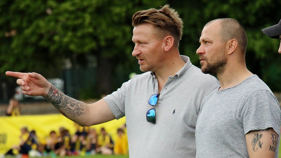Marek Heinz a Tomáš Ujfaluši (vpravo) na Ondrášovka Cupu v Šumperku