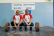 Ladislav a Tomáš Pliskovi na prvním kole třetí ligy ve vzpírání