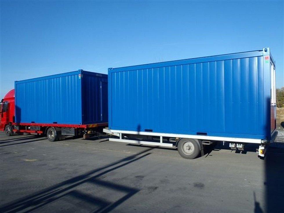 Kontejnery, které vyrábí firma Česko-slezská výrobní ve Zlatých Horách.
