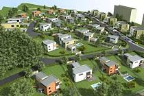 Vizualizace nové šumperské vilové čtvrti.