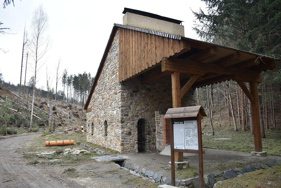 Zlatokopecký skanzen ve Zlatých Horách a jeho okolí v pondělí 29. března 2021.