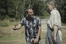 Snímky z natáčení filmu Díra u Hanušovic.