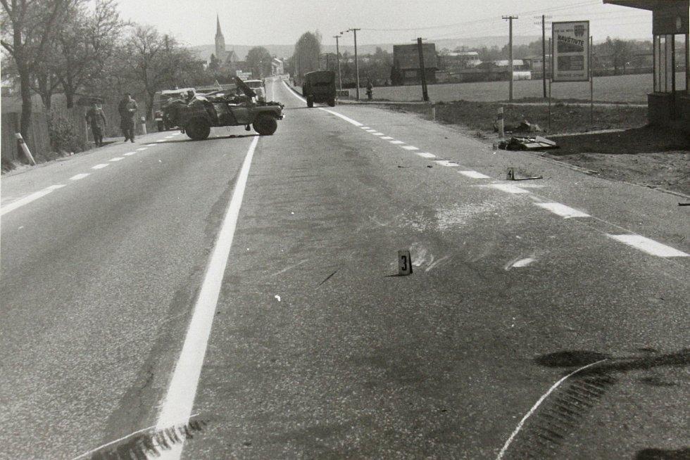 Smrtelná nehoda sovětského důstojníka u Podolí u Mohelnice