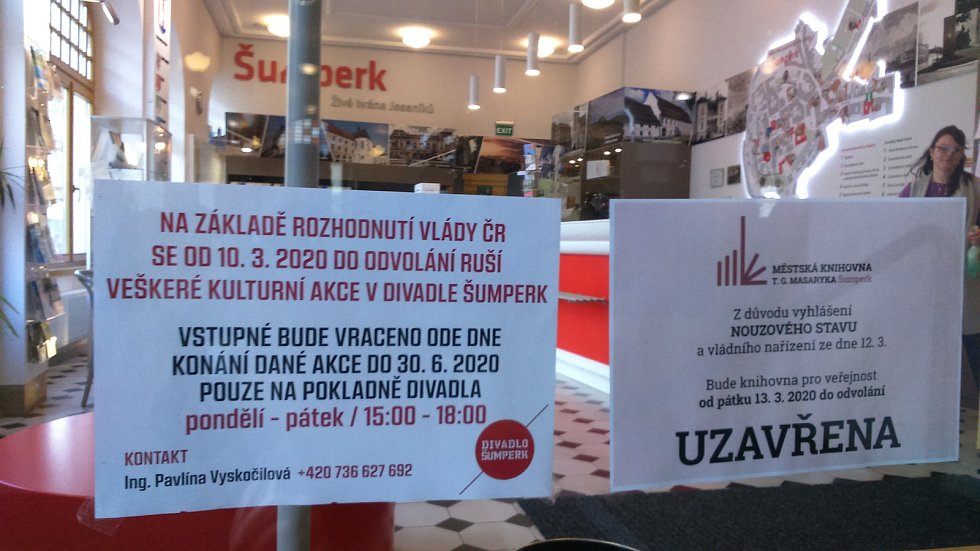 Uzavření šumperského infocentra pro veřejnost v pátek 13. září ve 12 hodin.