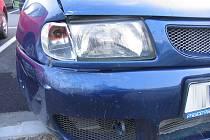 Následky nehody ve Finské ulici v Šumperku