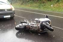 V úterý 26. července havaroval u Studené Loučky u Mohelnice motorkář.