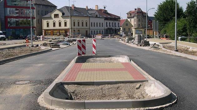 Aktuální stav ulice Jiřího z Poděbrad v Šumperku