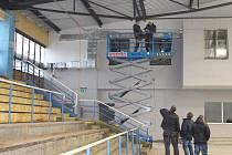 Zimní stadion v Šumperku v pondělí 6. listopadu.