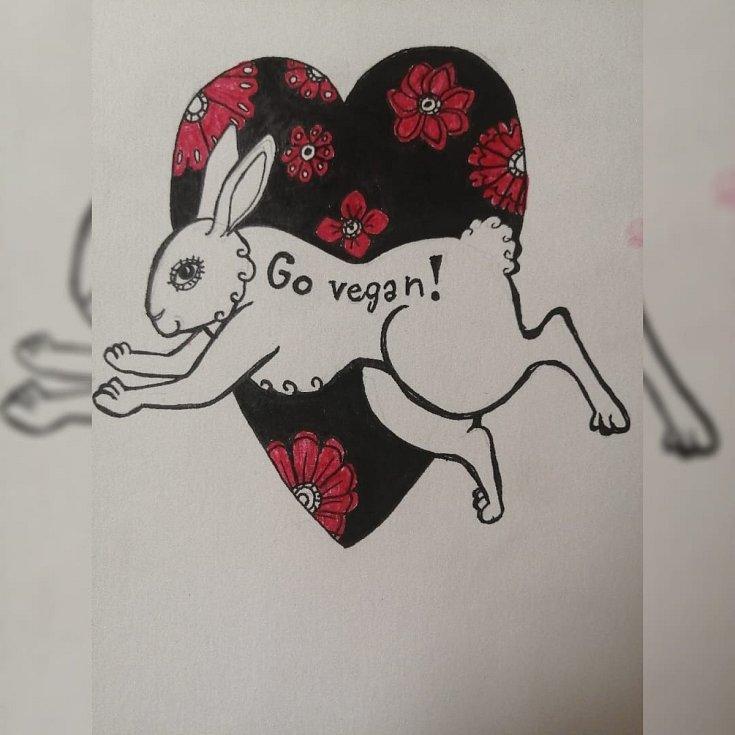 Hanka vyjadřuje prostřednictvím kreseb své pocity