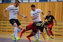 Zápas 1. kola FUTSAL ligy 2017/18. Jeseník v ostravské hale VŠB porazil Mělník 3:1.