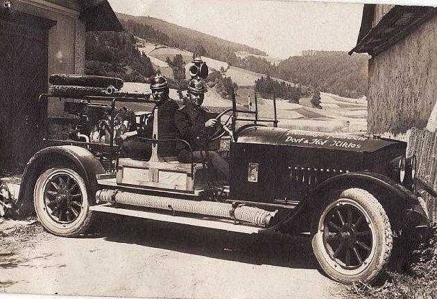 Snímek z archivu bohdíkovských hasičů